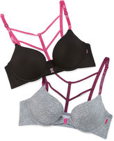 XOXO 2-pc. Underwire Strappy Back Push Up Bra-Xo4852-2pkc