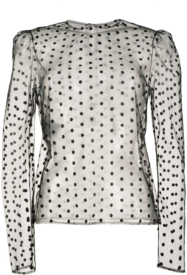 Philosophy di Lorenzo Serafini embroidered mesh top