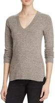 Aqua Cashmere Fitted V-Neck Sweater