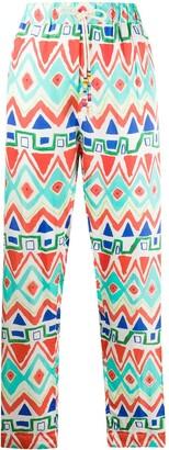 Mira Mikati Geometric Print Straight Leg Trousers