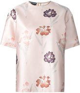 Rochas floral print T-shirt - women - Silk/Polyester - 44