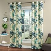 m.style Watermark Floral 84-Inch Grommet Top Window Curtain Panel Pair