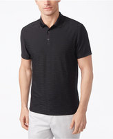 Alfani Men's Textured, Classic-Fit Geometric Performance Polo, Created for Macy's