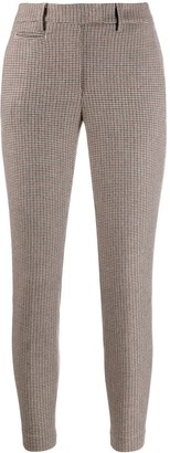 Dondup Check Print Skinny Trousers