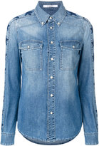 Givenchy star print denim shirt - women - Cotton - 36