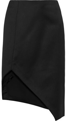 Narciso Rodriguez Split-front Wool-cady Pencil Skirt
