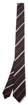 Dolce & Gabbana Shadow-striped Silk-faille Tie - Black