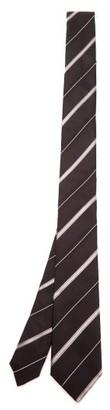 Dolce & Gabbana Shadow-striped Silk-faille Tie - Mens - Black