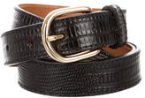 DSQUARED2 Embossed Leather Buckle Belt