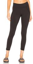 Michi Medusa Stripe Crop Legging in Black. - size L (also in )