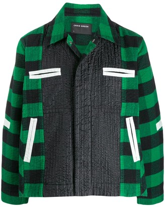 Craig Green Plaid-Panelled Worker's Jacket