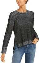 Eileen Fisher Organic Cotton Two-Tone Sweater