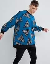 Love Moschino Oversized Logo Print Sweater
