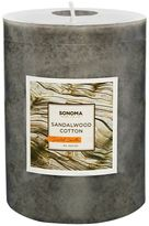 "SONOMA Goods for LifeTM 4"" x 3"" Sandalwood Cotton Pillar Candle"