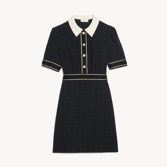 Sandro Short-sleeved tweed dress