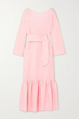Mara Hoffman + Lg Electronics Augusta Ruffled Linen Maxi Dress - Pastel pink
