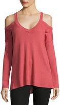Self Esteem Long Sleeve V Neck T-Shirt-Juniors