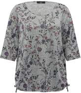 M&Co Plus floral print tie side top