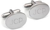 Cathy's Concepts Silver Oval Initials Cuff Link Set