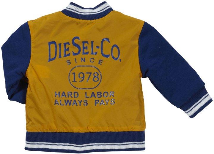 Diesel 'Jixxob' Reversible Jacket (Baby) - Yellow-12 Months