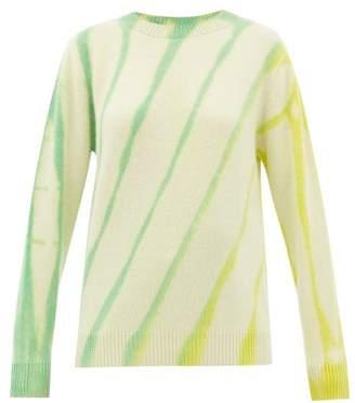 The Elder Statesman Sunshine Tie-dye Cashmere Sweater - Womens - Ivory Multi