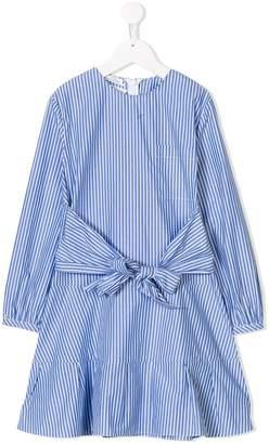 Oscar de la Renta Kids long-sleeve striped dress