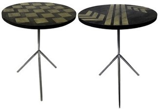 Brayden Studio Degnan Contemporary 2 Piece End Table Set