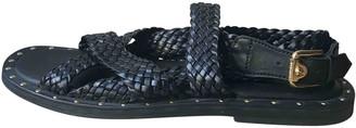 Versace Black Leather Sandals