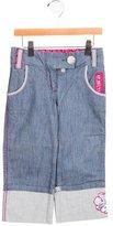 Kenzo Girls' Cuffed Embellished Jeans