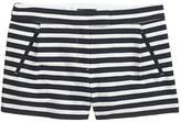 J.Crew Textured stripe short in navy
