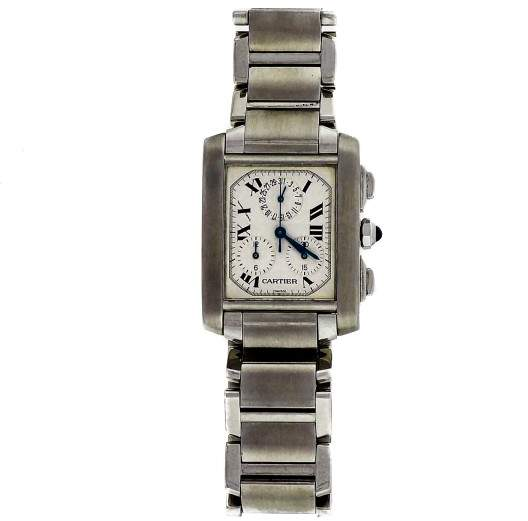 Cartier Tank Francaise 2303 Stainless Steel Quartz 28mm Mens Watch