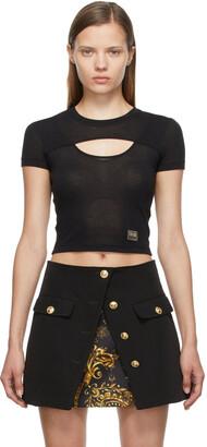 Versace Jeans Couture Black Cut-Out T-Shirt