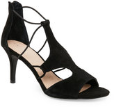 Tahari Black Dara Open Toe High Heel Cutout Sandals