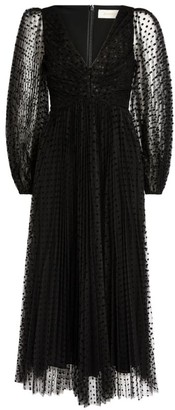 Zimmermann Lucky Pleated Midi Dress