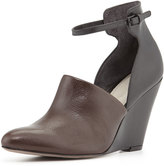 Pour La Victoire Lada Mid-Heel Wedge, Brown/Black
