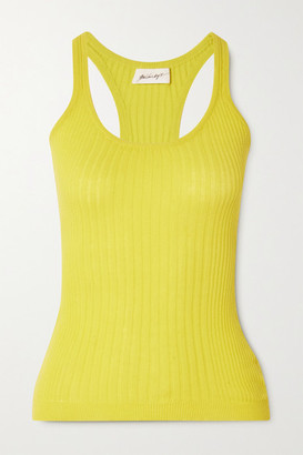 The Line By K Edie Ribbed Cotton Tank - Yellow
