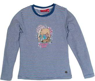 Salt&Pepper Salt and Pepper Girl's Longsleeve Horses Stripe T-Shirt
