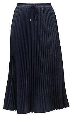 Lafayette 148 New York Women's Gwenda Micro-Pleat Midi Skirt