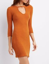 Charlotte Russe Ribbed Keyhole Bodycon Dress