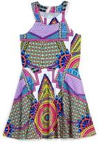 Flowers by Zoe Girls' Geometric Medallion Print Dress - Sizes S-XL