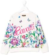 Roberto Cavalli floral print sweatshirt