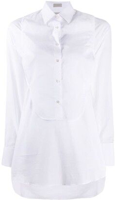 Mrz Detachable Bib Longline Shirt