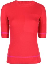 Proenza Schouler Ribbed Knit Short Sleeve crew neck Top