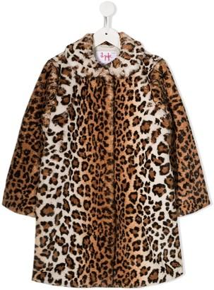 Il Gufo Leopard Faux-Fur Coat