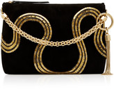 Jimmy Choo Callie Embroidered Suede Top Handle Bag
