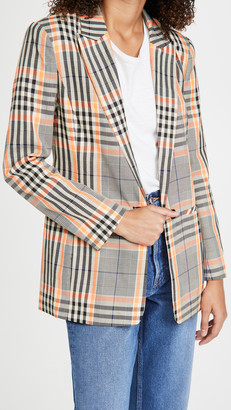 Endless Rose Single-Breasted Check Blazer