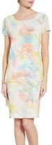 Gina Bacconi Watercolour Floral Print Dress, White/Multi