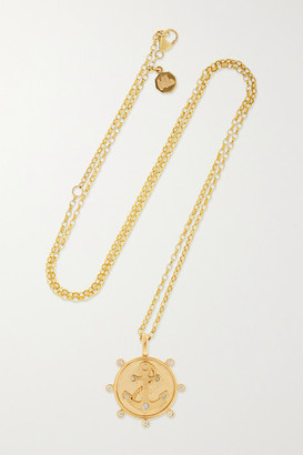 Marlo Laz Anchor 14-karat Gold Diamond Necklace - one size