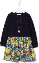 Familiar floral sweatshirt dress