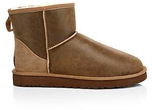 8a36863e783 Men's Classic Heritage Suede & Shearling Mini Bomber Boots